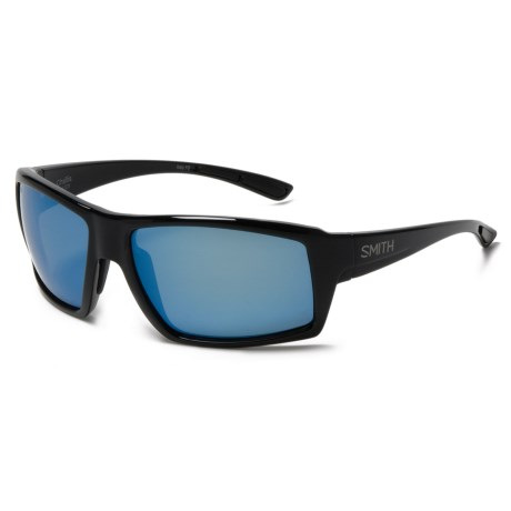 Smith Optics Challis Sunglasses - Polarized ChromaPop® Lenses in Matte Black/Blue