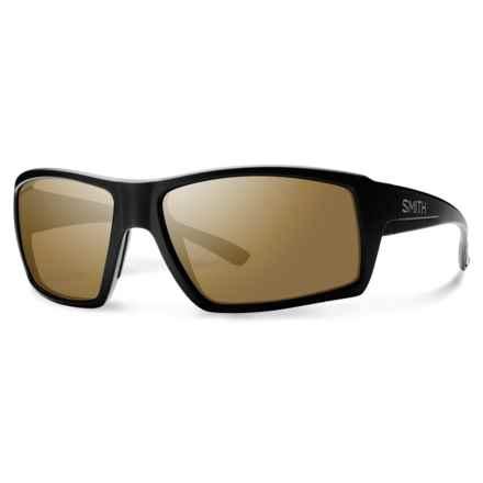 Smith Optics Challis Sunglasses - Polarized ChromaPop® Lenses in Matte Black/Bronze Mirror - Overstock