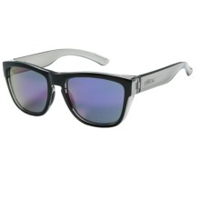 Smith Optics Clark Sunglasses - Carbonic Lenses in Black Smoke/Purple Sol-X - Closeouts