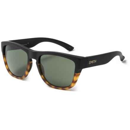 Smith Optics Clark Sunglasses - Carbonic Lenses in Matte Black/Tortoise/Grey Green - Closeouts