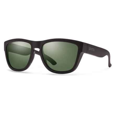 Smith Optics Clark Sunglasses - Polarized ChromaPop® Lenses in Matte Black/Grey/Green - Overstock