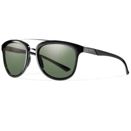 Smith Optics Clayton Sunglasses in Black/Gray Green - Closeouts
