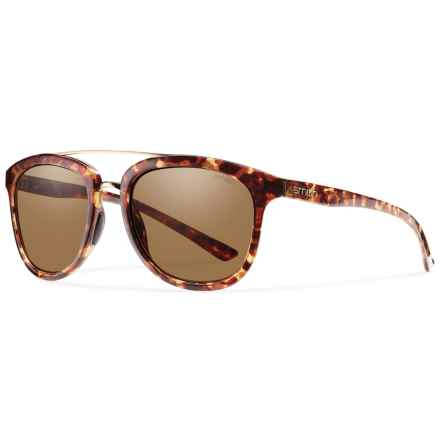 Smith Optics Clayton Sunglasses in Yellow Tortoise/Brown - Closeouts