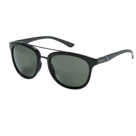 Smith Optics Clayton Sunglasses - Polarized in Black/Gray Green - Closeouts