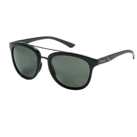 Smith Optics Clayton Sunglasses - Polarized in Black/Gray Green