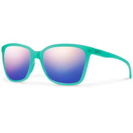 Smith Optics Colette Sunglasses (For Women) in Opal/Blue Flash Mirror - Closeouts