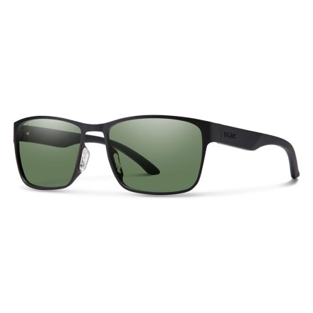863ac9b7d7 Smith Optics Contra Sunglasses - Polarized (For Men) in Matte Black Gray  Green