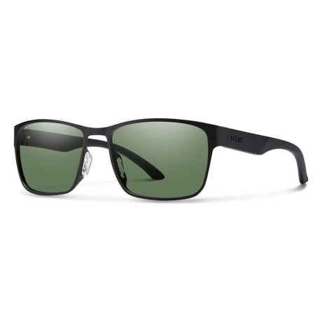 ede530d078 Smith Optics Contra Sunglasses - Polarized (For Men) in Matte Black Gray  Green