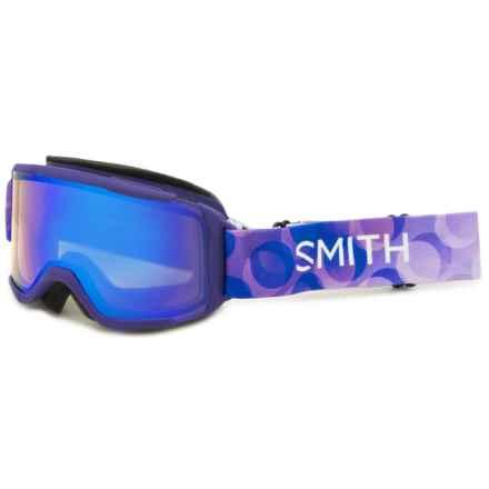 Smith Optics Daredevil Ski Goggles (For Little and Big Kids) in Ultraviolet Dollop/Blue Sensor - Closeouts