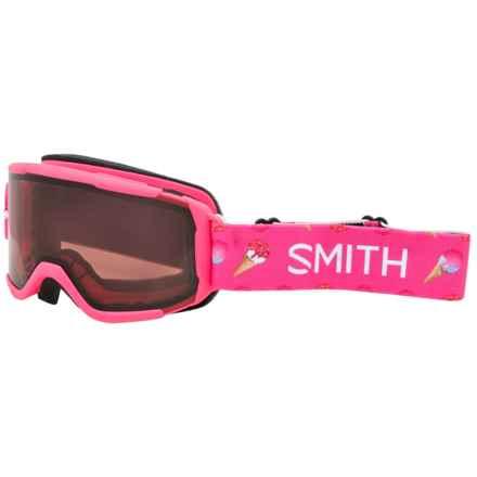 Smith Optics Daredevil Ski Goggles - RC36 Lens (For Little and Big Kids) in Pink Sugarcone - Closeouts