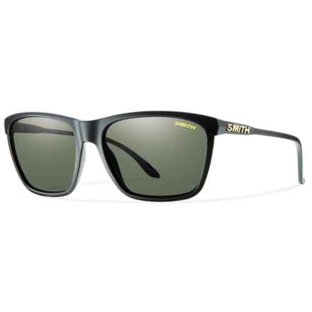 Smith Optics Delano Sunglasses - Polarized ChromaPop® Lenses (For Women) in Matte Black/Grey Green - Overstock