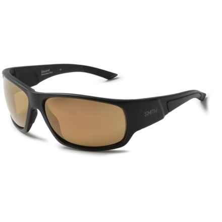 Smith Optics Discord Sunglasses - Polarized in Matte Black/Bronze Mirror - Closeouts