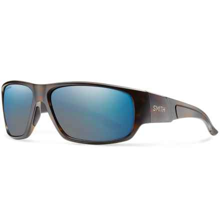 Smith Optics Discord Sunglasses - Polarized in Matte Tortoise/Blue Mirror - Closeouts