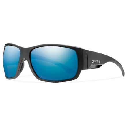 Smith Optics Dockside Sunglasses - Polarized, Chromapop Lenses in Matte Black/ Blue - Closeouts