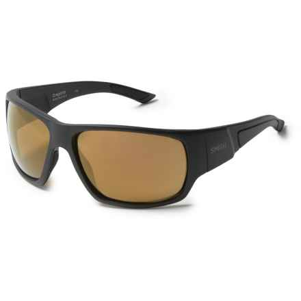 Smith Optics Dragstrip Sunglasses - Polarized ChromaPop Lenses in Matte Black/Bronze - Closeouts