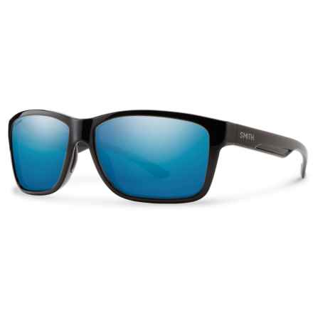 Smith Optics Drake Sunglasses - Techlite Polarized Glass Lenses in Black/Blue Mirror - Closeouts