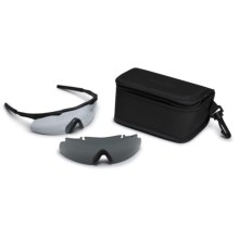 Smith Optics Elite Aegis Arc Ballistic Shield Shooting Glasses - Interchangeable Lenses in Black/Clear/Grey - Closeouts