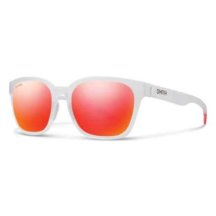Smith Optics Founder Slim Sunglasses - ChromaPop® Lenses in Crystal Red/Sun Red Mirror - Overstock