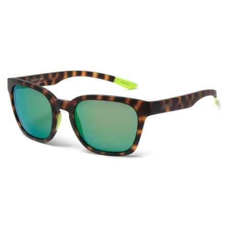 Smith Optics Founder Slim Sunglasses - ChromaPop® Lenses in Matte Tortoise  Neon/Green Mirror