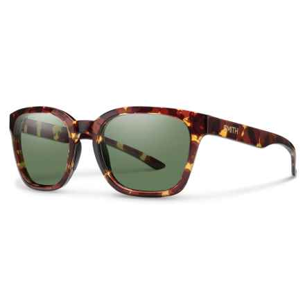 Smith Optics Founder Slim Sunglasses - Polarized in Tortoise/Gray/Green - Overstock
