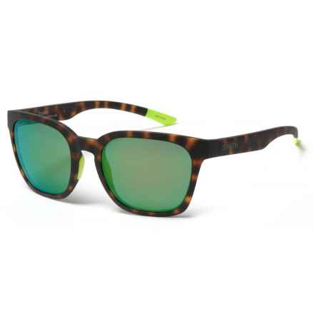 Smith Optics Founder Sunglasses - ChromaPop® Lenses in Matte Tortoise Neon/Sun Green Mirror - Overstock