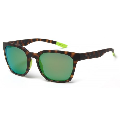 e0d26eef9cf Smith Optics Founder Sunglasses - ChromaPop® Lenses in Matte Tortoise  Neon Sun Green Mirror