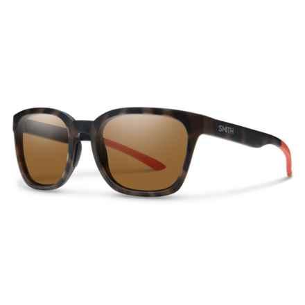 Smith Optics Founder Sunglasses - ChromaPop® Polarized Lenses (For Women) in Howler Matte Tortoise/Brown - Closeouts