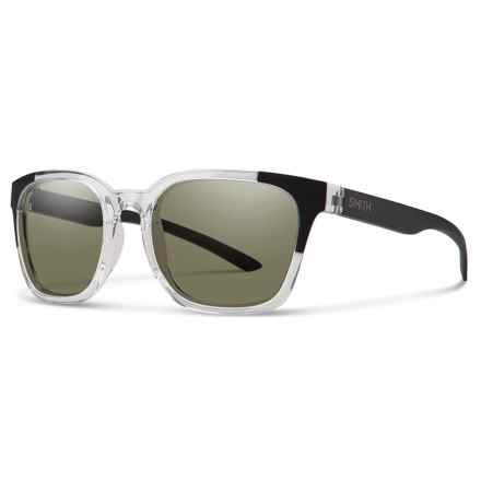 Smith Optics Founder Sunglasses - Polarized ChromaPop® Lenses in Crystal Black Block/Gray Green - Closeouts
