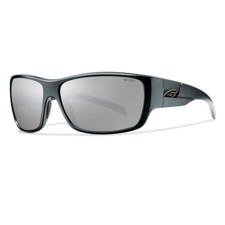 Smith Optics Frontman Sunglasses - Polarized in Matte Black/Polar Platnium