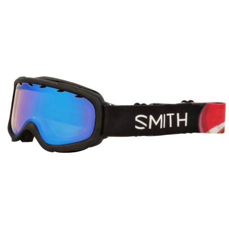 Smith Optics Gambler Air Ski Goggles (For Little and Big Kids) in Black Angry Birds/Blue Sensor