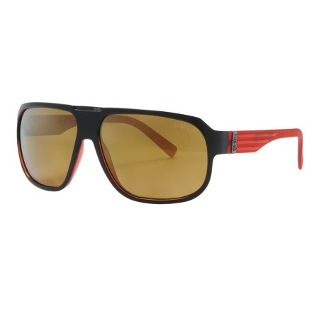 Smith Optics Gibson Sunglasses - Polarized in Black Red/Gold Gradient Mirror
