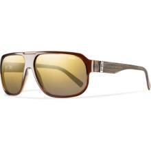 Smith Optics Gibson Sunglasses - Polarized in Brown Wood/Polarized Gold Gradient Mirror - Closeouts