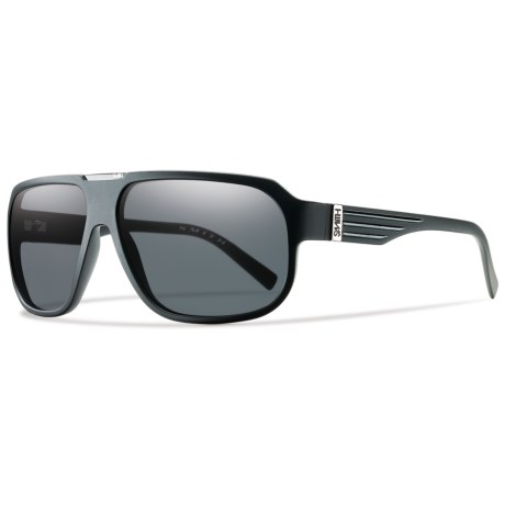 Smith Optics Gibson Sunglasses - Polarized in Matte Black/Polarized Gray