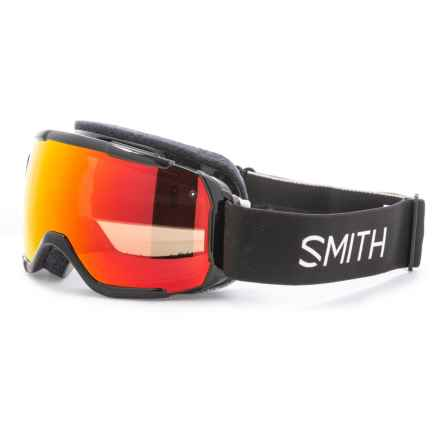 Smith Optics Grom Snowsport Goggles - Graphic Strap (For Little and Big Kids) in Black/Chromapop Everyday Red Mirror - Closeouts