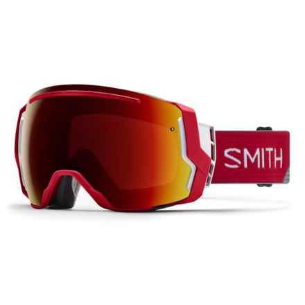 Smith Optics I/O 7 Ski Goggles - Polarized, Extra Lens in Chromapop Sun Red Mirror/Fire Split - Closeouts
