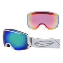 Smith Optics I/O 7 Snowsport Goggles - Interchangeable Lens in White/Green Sol X Mirror - Closeouts