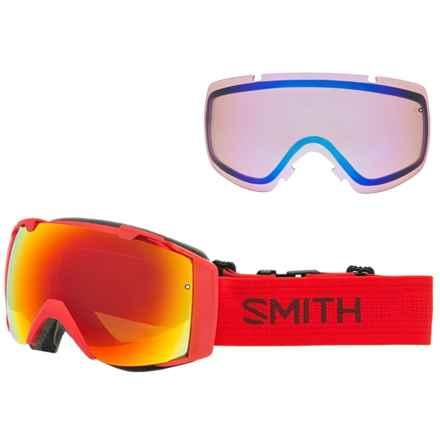 Smith Optics I/O Mirror Ski Goggles - Extra Lens in Fire/Red Sol-X/Blue Sensor - Closeouts