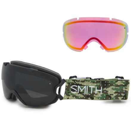 Smith Optics I/OS Snowsport Goggles - Extra Lens in Dot Camo/Blackout/ Red Sensor Mirror - Closeouts