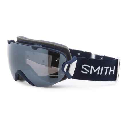 Smith Optics I/OS Snowsport Goggles - Extra Lens in Navy Micro Floral/Chromapop Sun Platinum Mirror/Ch - Closeouts