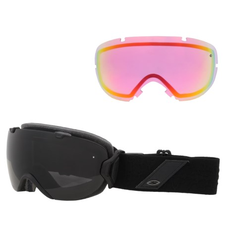 Smith Optics I/OS Snowsport Goggles - Interchangeable Lens in Black Discord/Blackout