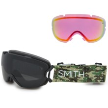 Smith Optics I/OS Snowsport Goggles - Interchangeable Lens in Dot Camo/Blackout/ Red Sensor Mirror - Closeouts