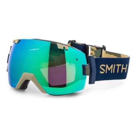 Smith Optics I/OX Snowsport Goggles - Extra Lens in Navy Camo Split/Sun Green Mirror/Strom Rose - Closeouts