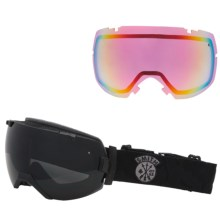 Smith Optics I/OX Snowsport Goggles - Interchangeable Lens in Black Sabotage/Blackout - Closeouts