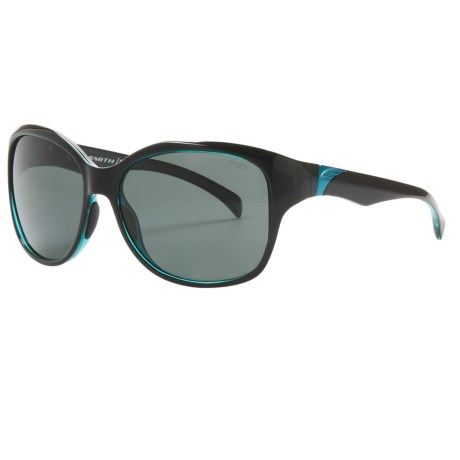 Smith Optics Jetset Sunglasses - Polarized (For Women) in Black Lagoon/Polarized Grey