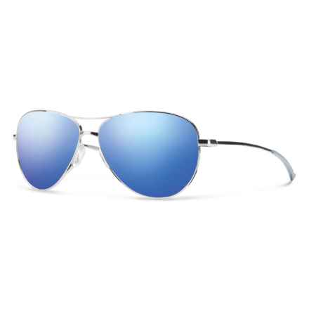 Smith Optics Langley Sunglasses in Silver/Blue Flash - Overstock