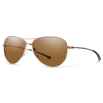 Smith Optics Langley Sunglasses - Polarized ChromaPop® Lenses in Matte Dessert/Brown - Overstock