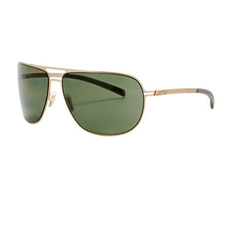 Smith Optics Lineup Sunglasses - Polarized in Gold/Polarized Grey Green