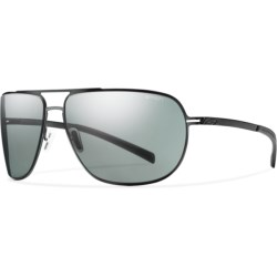 Smith Optics Lineup Sunglasses - Polarized in Gold/Polarized Grey Green