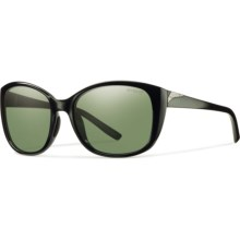 Smith Optics Lookout Sunglasses - Polarized Chromapop Lenses (For Women) in Black/Gray Green - Closeouts