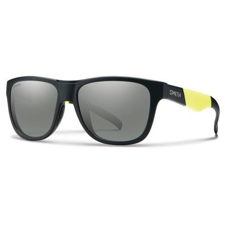 Smith Optics Lowdown Slim Sunglasses - ChromaPop® Lenses in Matte Black/Platnium
